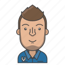 avatar, character, man, mechanic, people, profession, profile icon
