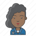 avatar, character, mechanic, people, profession, profile, woman