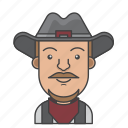 avatar, character, man, people, profession, profile, rancher icon