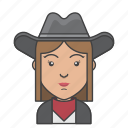 avatar, character, people, profession, profile, rancher, woman