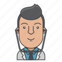 avatar, character, doctor, man, people, profession, profile icon