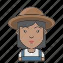 avatar, character, farmer, people, profession, profile, woman icon