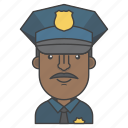avatar, character, man, people, police, profession, profile icon
