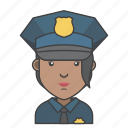 avatar, character, people, police, profession, profile, woman