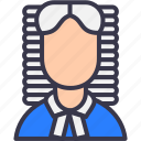 advocate, attorney, avatar, court, judge, law, lawyer icon