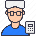 avatar, calc, coaching, educate, education, professor, tutor icon