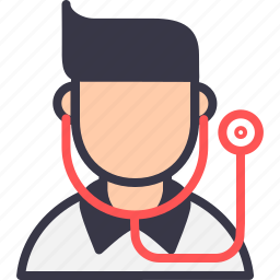 avatar, doctor, lifesaver, medical, stethoscope, surgeon, treatment icon