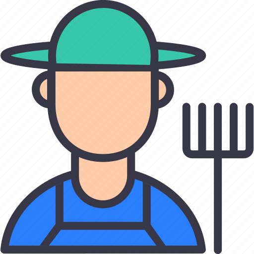 agriculture, avtar, farm, farmer, grower, hat, human icon