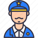 army, avatar, caption, navy, officer, police, sherif icon