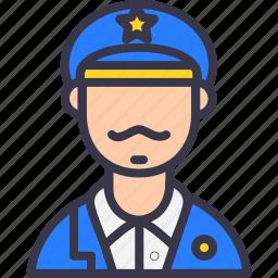 army, avatar, caption, navy, officer, police, sherif icon