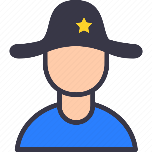 avatar, military, police, service, sherif, trust, village icon