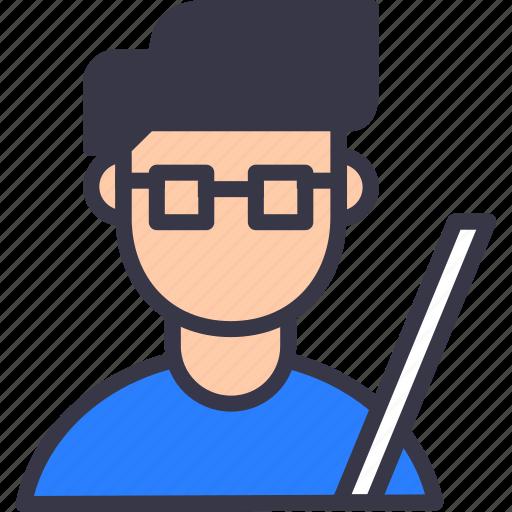 avatar, college, education, instructor, professor, scale, tutor icon