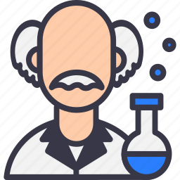 avatar, einstein, knowledge, mad, science, scientific, scientist icon
