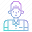 avatar, bartender, groom, man, people, profile icon