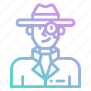 agent, avatar, detective, job, man, people, spy icon