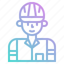 avatar, engineer, job, man, people, user, worker icon