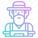 avatar, farmer, garden, gardener, job, man, people icon