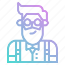 avatar, bartender, boy, groom, hipster, man, profile icon