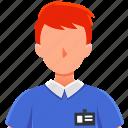 avatar, languange, man, professions, translator icon