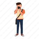 avatar, character, male, men, photographer, professions icon