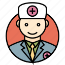 avatar, doctor, medical, people, professional, surgeon, uniform icon icon