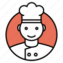 chef, cook, cooking, restaurant chef icon