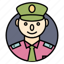 army, dictator, general, governor, killer, male, military, officer, police, power, soldier, war, warrior icon