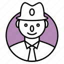 businessman, client, man, manager, person, profile, user icon icon