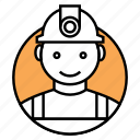 constractor, mechanical engineer, engineer icon