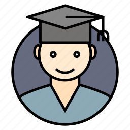 graduated, learner, school, student, university icon icon