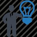 business, finance, graph, idea, marketing, office, online icon