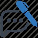 document, feedback, file, paper, write icon