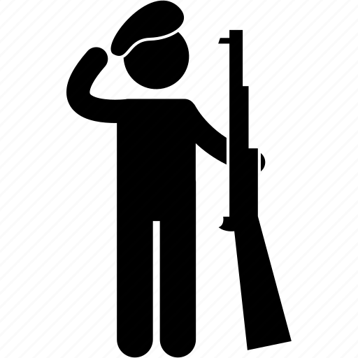 army, gun, job, man, military, national guard, soldier icon