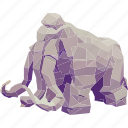 animal, elephant, linear, linear animal, mammoth, mammoth face icon