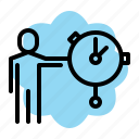 prensent, professional, report, seo, speed, time icon