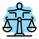 curency, law, leader, professional, scales, seo icon