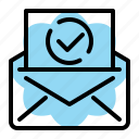 check, email, inbox, mail, message, professional, seo icon