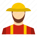 agriculture, farm, farmer, farming, food, man, person icon