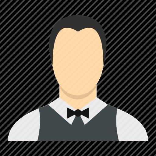 male, man, person, restaurant, service, staff, waiter icon