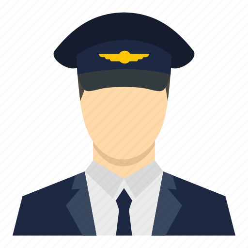 clothing, hat, head, military, officer, pilot, uniform icon