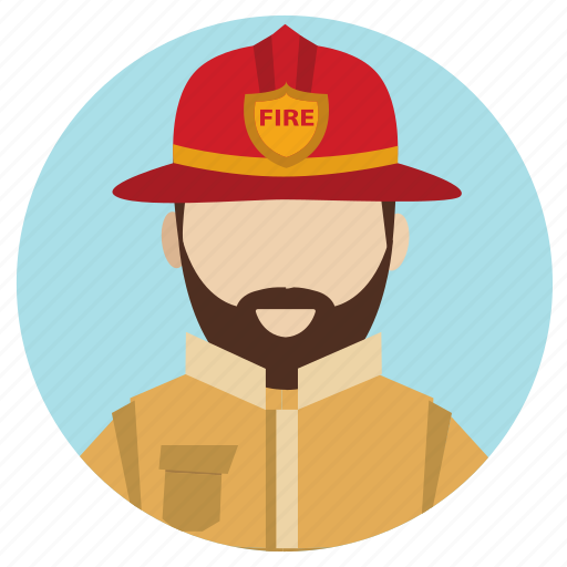 fire fighter, professions icon