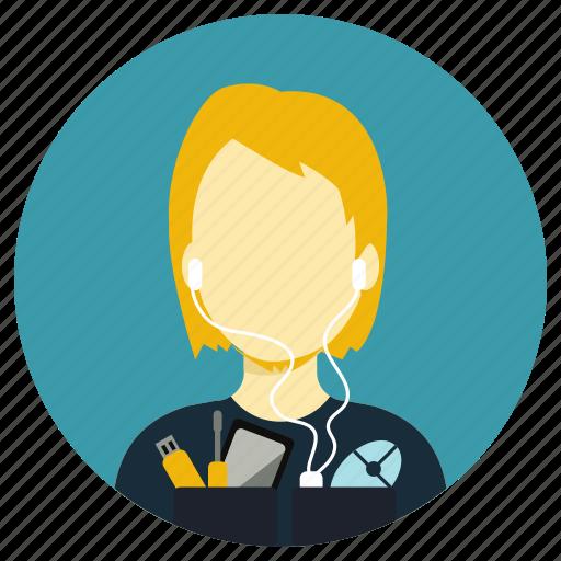 consultant, gadget, it, professions icon