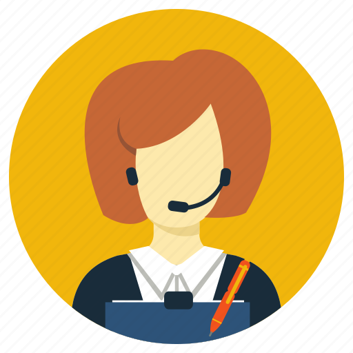 assistant, office, professions, secretary icon