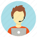 assistant, call center, customer, professions, service icon