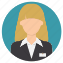 professions, receptionist icon