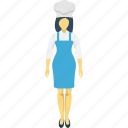 cook, cuisiner, culinary, female chef, woman chef icon