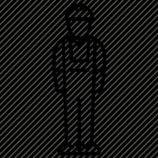 body, builder, hard hat, human, man, profession, uniform icon