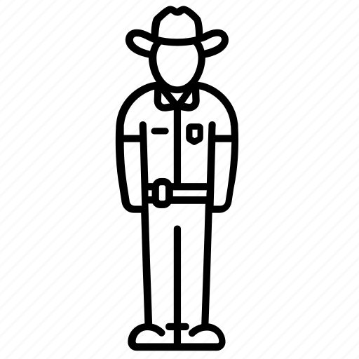 cop, cowboy, hat, officer, police, policeman, sheriff icon