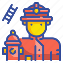 firefighter, people, profression, occupation, user, avatar, job