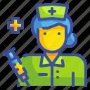 assistance, avatar, hospital, medical, nurse, profression, woman icon